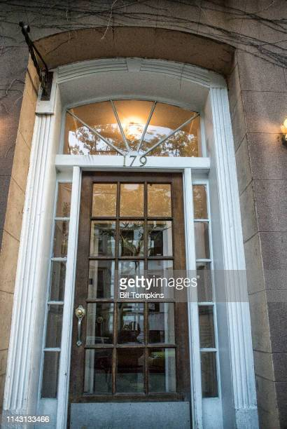The home of the Marx Brothers at 179 East 93rd Street They lived here from 1895 until 1909 This is front entrance Photographed October 2016 in New...