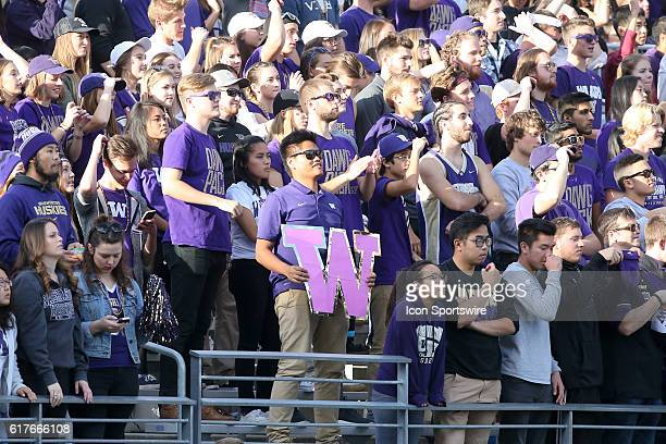 Washington fans cheered on the Huskies through out the game against Oregon State. Washington defeated Oregon State 41-17 at the University of...