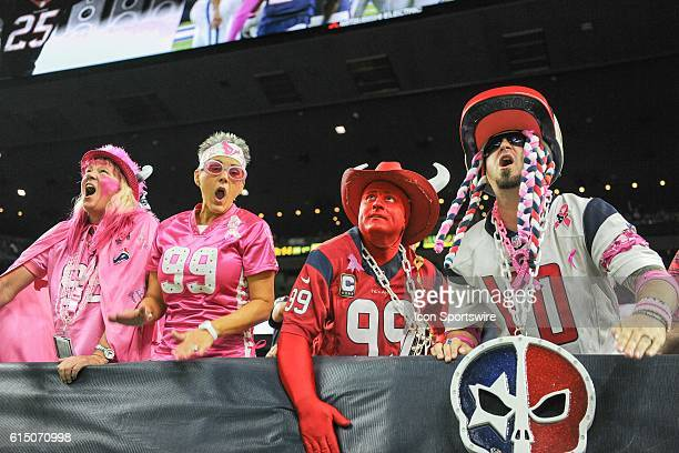 Wild Texans fans during the NFL game between the Indianapolis Colts and Houston Texans at NRG Stadium Houston Texas