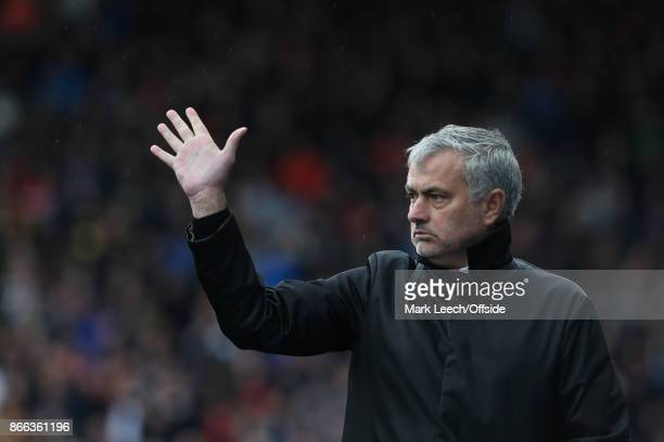 Premier League Football Huddersfield Town v Manchester United United manager Jose Mourinho