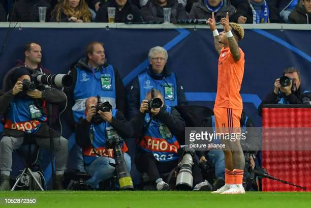 23 October 2018 BadenWuerttemberg Sinsheim Soccer Champions League 1899 Hoffenheim Olympique Lyon Group stage Group F Matchday 3 in the...