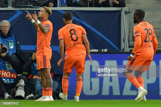 October 2018, Baden-Wuerttemberg, Sinsheim: Soccer: Champions League, 1899 Hoffenheim - Olympique Lyon, Group stage, Group F, Matchday 3, in the...