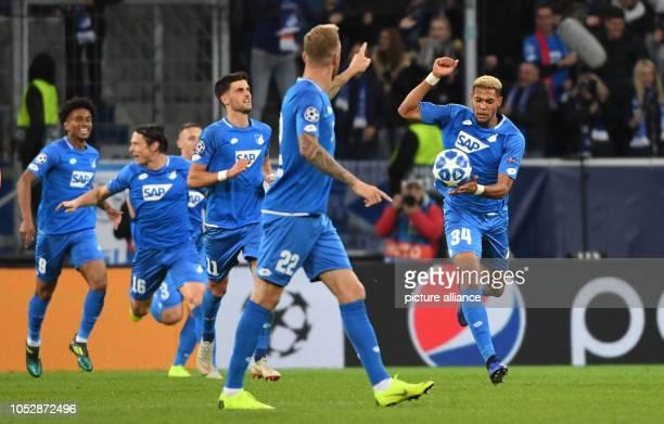 23 October 2018 BadenWuerttemberg Sinsheim Soccer Champions League 1899 Hoffenheim Olympique Lyon Group stage Group F Matchday 3 Hoffenheim's...