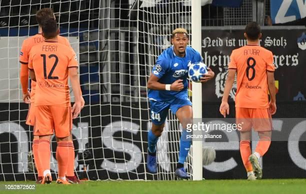 October 2018, Baden-Wuerttemberg, Sinsheim: Soccer: Champions League, 1899 Hoffenheim - Olympique Lyon, Group stage, Group F, Matchday 3....