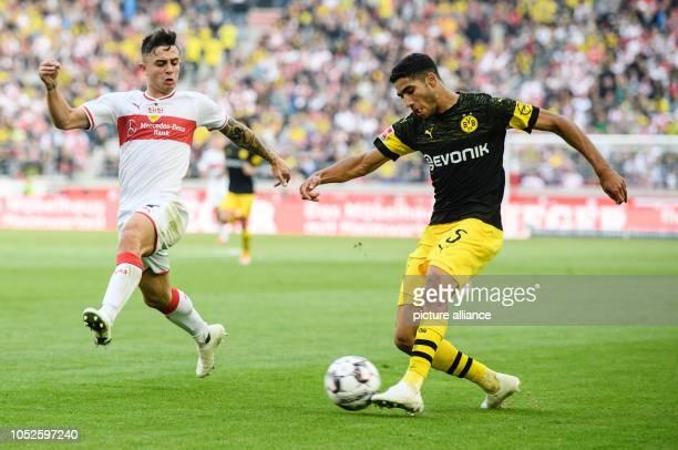 20 October 2018 BadenWuerttemberg Stuttgart 20 October 2018 Germany Stutgart Soccer Bundesliga Matchday 8 VfB Stuttgart Borussia Dortmund in the...