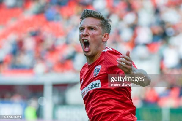 October 2018, Bavaria, Inglostadt: Soccer: 2nd Bundesliga, FC Ingolstadt 04 - SC Paderborn 07, 9th matchday at Audi Sportpark. Konstantin...