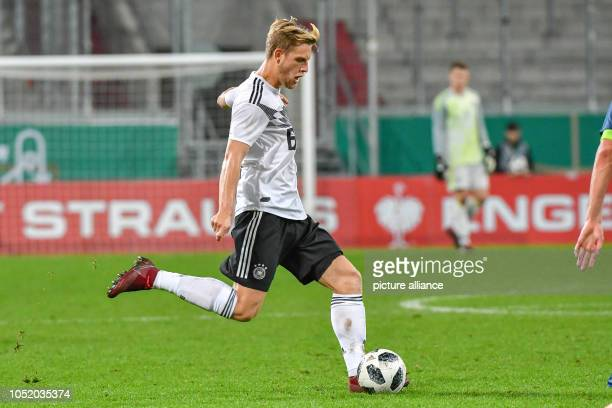 Soccer U21 men European Championship qualification Germany vs Norway 1st round Group 5 13th matchday at Audi Sportpark Arne Maier of Germany on the...