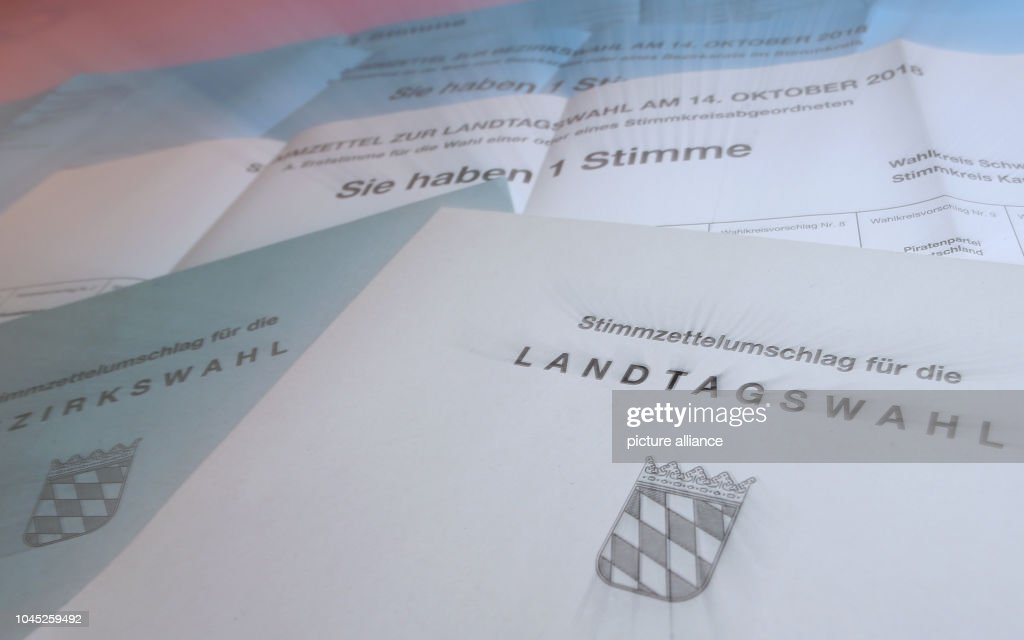 documents for the election of the landtag and bezirkstag on in