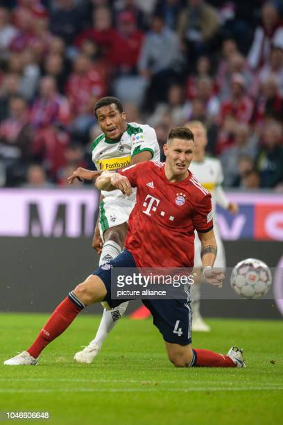 06 October 2018 Germany Munich Soccer Bundesliga Bayern Munich vs Borussia Moenchengladbach 7th matchday in the Allianz Arena Alassane Plea from...