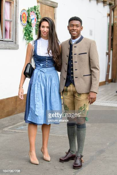 David Alaba and his girlfriend Shalimar Heppner come to the beetle tent at the Oktoberfest on the Theresienwiese Players coaches and managers of the...