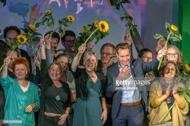 20 October 2018 Germany Regensburg Katharina Schulze and Ludwig Hartmann chairmen of the Alliance 90/The Greens parliamentary group in the Bavarian...