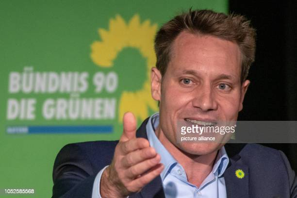 20 October 2018 Germany Regensburg Ludwig Hartmann parliamentary party leader of Alliance 90/The Greens in the Bavarian state parliament speaks at...
