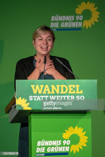 20 October 2018 Germany Regensburg Katharina Schulze leader of the parliamentary group Alliance 90/The Greens in the Bavarian state parliament speaks...