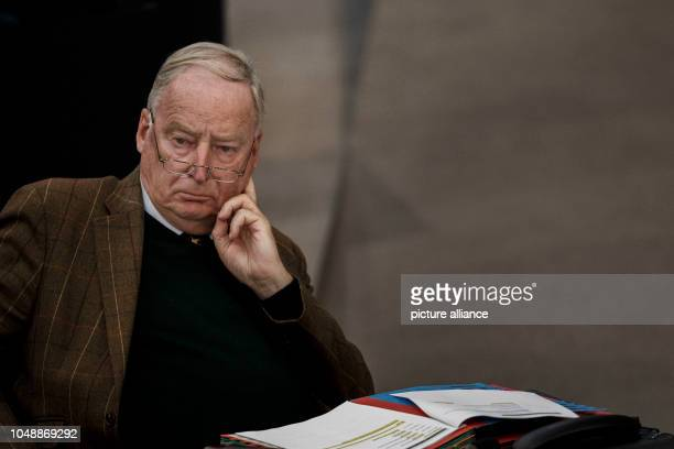 October 2018, Berlin: 10 October 2018, Germany, Berlin: Alexander Gauland, Co-Chairman of the AfD Parliamentary Group in the Bundestag, takes part in...