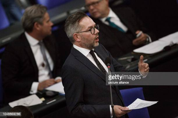 October 2018, Berlin: 10 October 2018, Germany, Berlin: Michael Roth, Minister of State for Europe at the Federal Foreign Office, addresses the...
