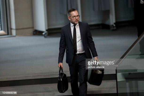 October 2018, Berlin: 10 October 2018, Germany, Berlin: Michael Roth, Minister of State for Europe at the Federal Foreign Office, arrives at the 54th...