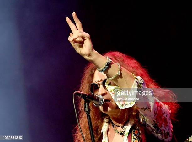 17 October 2018 Germany Berlin Glenn Hughes British rock musician stands on stage in the Admiralspalast Photo Britta Pedersen/dpaZentralbild/dpa