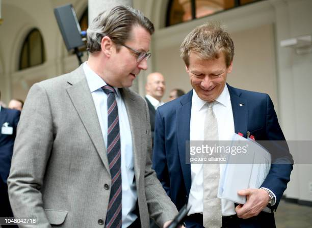Andreas Scheuer Federal Minister of Transport and Richard Lutz Chairman of the Board of Management of Deutsche Bahn AG discuss the 'Future Rail...