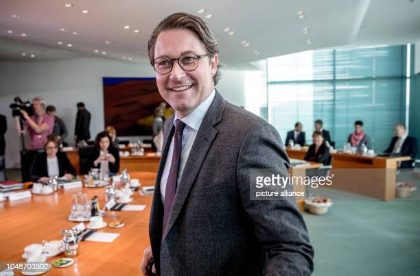 Andreas Scheuer Federal Minister of Transport and Digital Infrastructure will attend the Federal Cabinet meeting at the Chancellery Photo Michael...