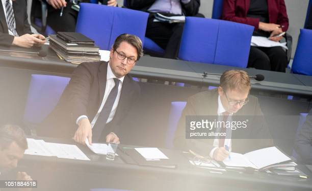 Andreas Scheuer Federal Minister of Transport takes part in the 55th session of the German Bundestag on the subject of diesel driving bans in major...