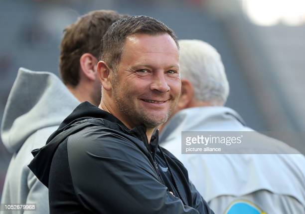 Soccer Bundesliga Hertha BSC SC Freiburg 8th matchday in the Olympic Stadium Coach Pal Dardai of Hertha BSC smiles before the game Photo Jens...