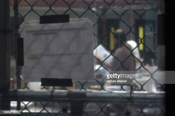 An inmate stands in a cell wing in Camp 6 The infamous camp has been in existence for almost 17 years 40 inmates are still being held there Photo...