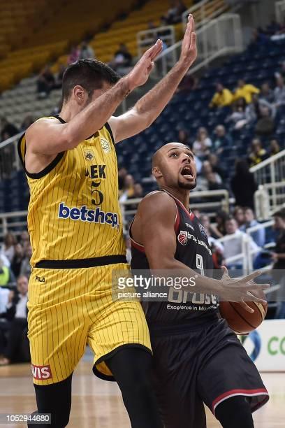 24 October 2018 Greece Athens Basketball Champions League preliminary round Group C 3rd matchday AEK Athens Brose Bamberg Dusan Sakota from AEK...