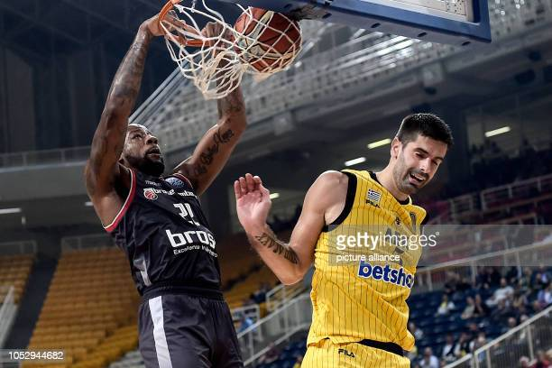 24 October 2018 Greece Athens Basketball Champions League preliminary round Group C 3rd matchday AEK Athens Brose Bamberg Cliff Alexander from Brose...