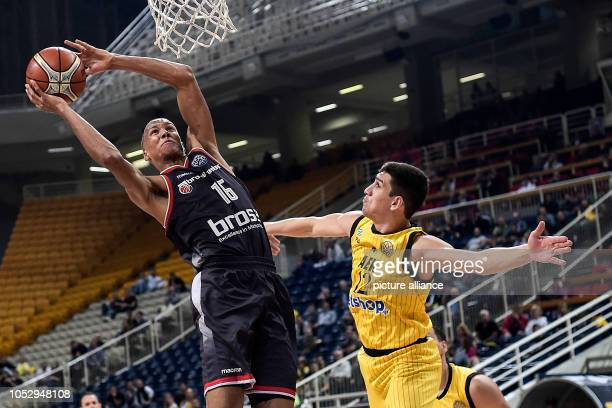 24 October 2018 Greece Athens Basketball Champions League preliminary round Group C 3rd matchday AEK Athens Brose Bamberg Louis Olinde of Brose...