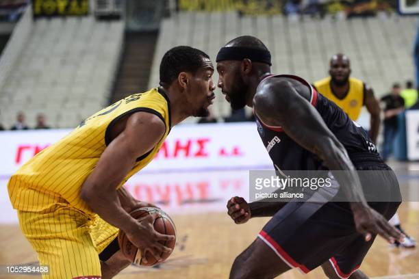 24 October 2018 Greece Athens Basketball Champions League preliminary round Group C 3rd matchday AEK Athens Brose Bamberg Tyrese Rice from Brose...