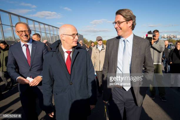 19 October 2018 Germany Hamburg Dirk von Brandenburger Managing Director Deges Peter Tschentscher First Mayor of Hamburg and Federal Transport...