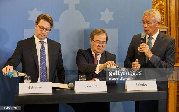 Andreas Scheuer Federal Minister of Transport and Digital Infrastructure Armin Laschet Prime Minister of North RhineWestphalia and Stefan Schulte...