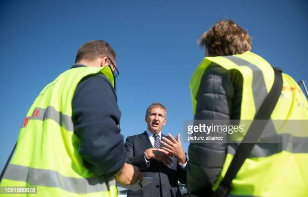 Michael Eggenschwiler CEO of Hamburg Airport talks to journalists during a press conference Photo Daniel Reinhardt/dpa