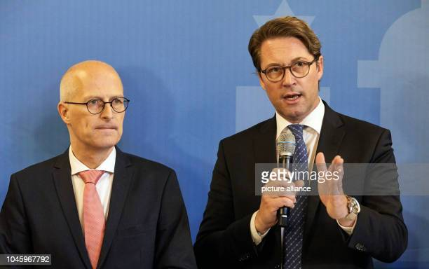 Peter Tschentscher Hamburg's First Mayor and Andreas Scheuer Federal Minister of Transport and Digital Infrastructure will hold a press conference in...