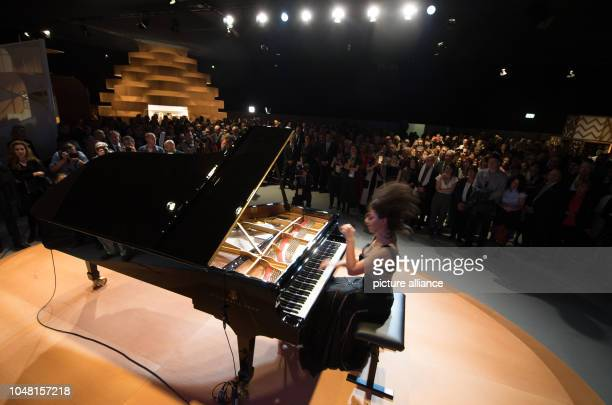 Khatia Buniatishvili GeorgianFrench pianist plays in the pavilion of the Guest of Honour The Frankfurt Book Fair is the largest book fair in the...