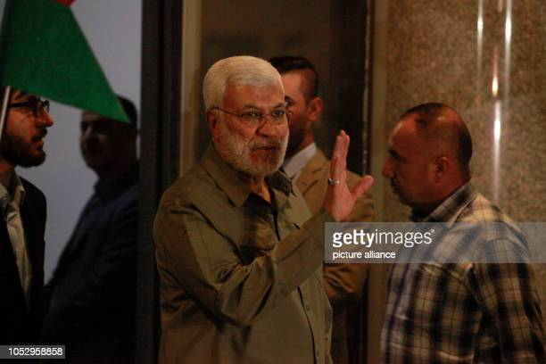 October 2018, Iraq, Baghdad: Deputy Chairman of Popular Mobilization Committee Abu Mahdi al-Muhandis arrives for a session at the building of the...