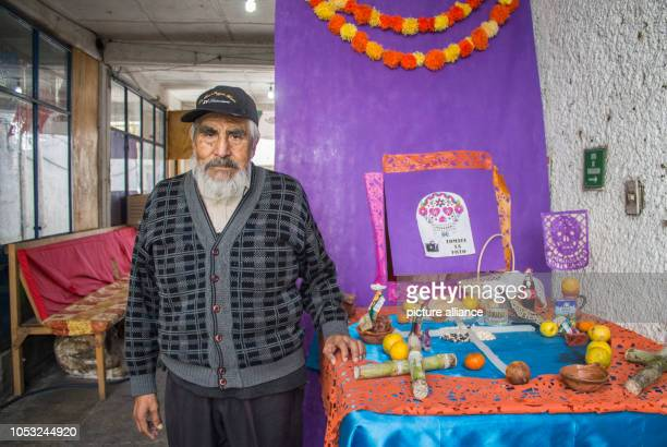 Alberto Torres y Cordero stands for a photo in his workshop in the south of Mexico City Together with his wife he has been practicing the...