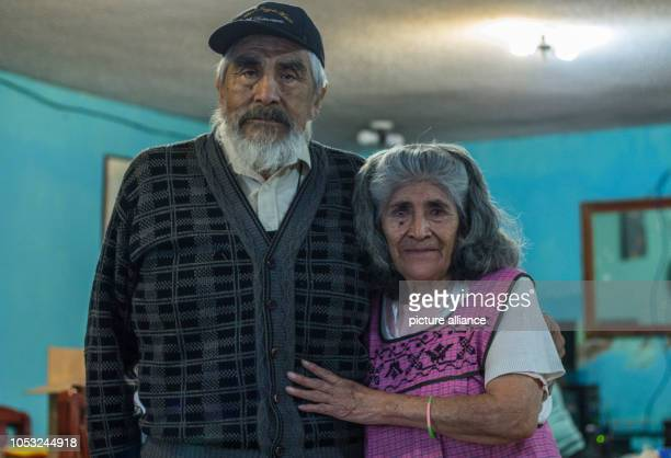 Bernardina Alfaro López and Alberto Torres y Cordero stand for a photo in their workshop in the south of Mexico City Together they have been...
