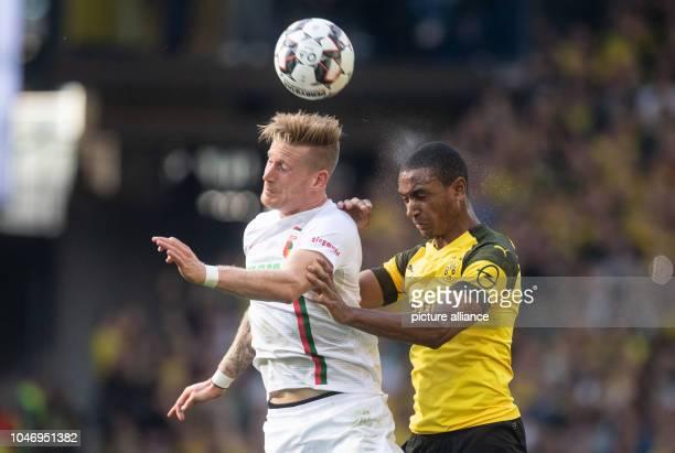 06 October 2018 North RhineWestphalia Cologne Soccer Bundesliga Borussia Dortmund FC Augsburg 7th matchday at Signal Iduna Park Dortmunds Abdou...