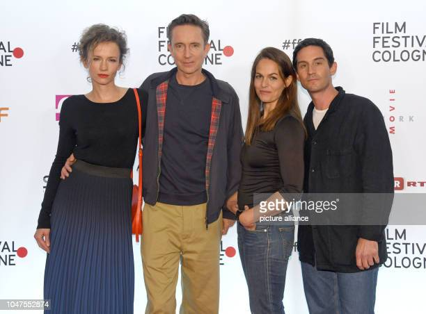 07 October 2018 North RhineWestphalia Cologne The actors Adina Vetter Arnd Klawitter Hannah Schröder and Christoph Bach come to screen the film 'The...