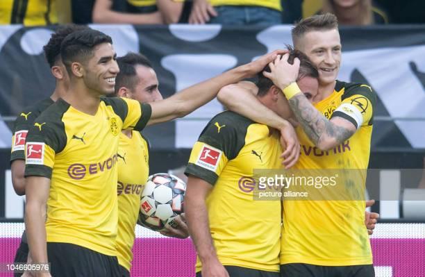 06 October 2018 North RhineWestphalia Dortmund 06 October 2018 Germany Dortmund Soccer Bundesliga Borussia Dortmund vs FC Augsburg 7th matchday at...