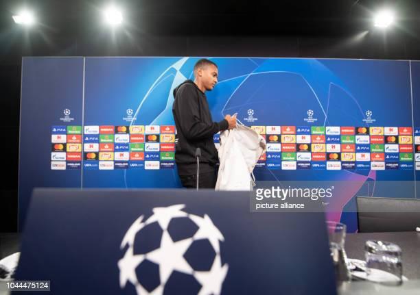 02 October 2018 North RhineWestphalia Dortmund Manuel Akanji from Borussia Dortmund comes to a press conference at Signal Iduna Park BVB will face AS...