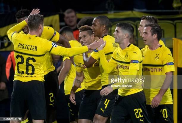 October 2018, North Rhine-Westphalia, Dortmund: Soccer: Champions League, Borussia Dortmund - Atlético Madrid, Group stage, Group A, Matchday 3:...