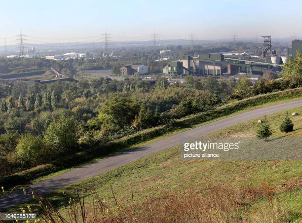 05 October 2018 North RhineWestphalia Essen Picture showing a part of the colliery area of Prosper Haniel with the Malakovff tower RAG Montan...