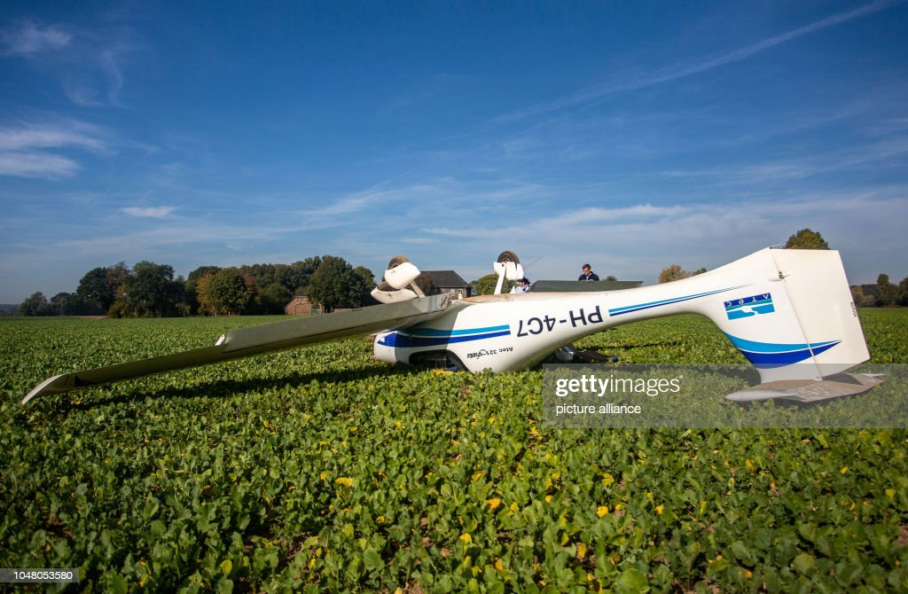 Plane crash in Xanten : News Photo