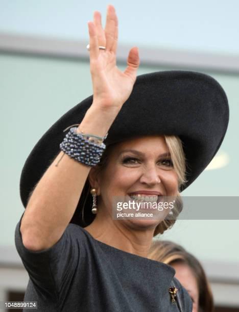 10 October 2018 RhinelandPalatinate BernkastelKues 10 October 2018 Germany BernkastelKuesMaxima Queen of the Netherlands leaves BernkastelKues...