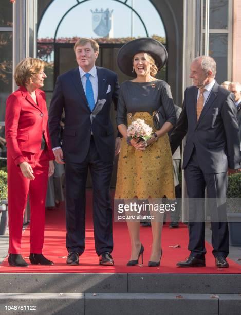 10 October 2018 RhinelandPalatinate Mainz Malu Dreyer Prime Minister of RhinelandPalatinate WillemAlexander King of the Netherlands Queen Maxima and...