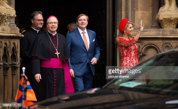 11 October 2018 RhinelandPalatinate Trier Stephan Ackermann Bishop of Trier WillemAlexander King of the Netherlands and Queen Maxima come from the...