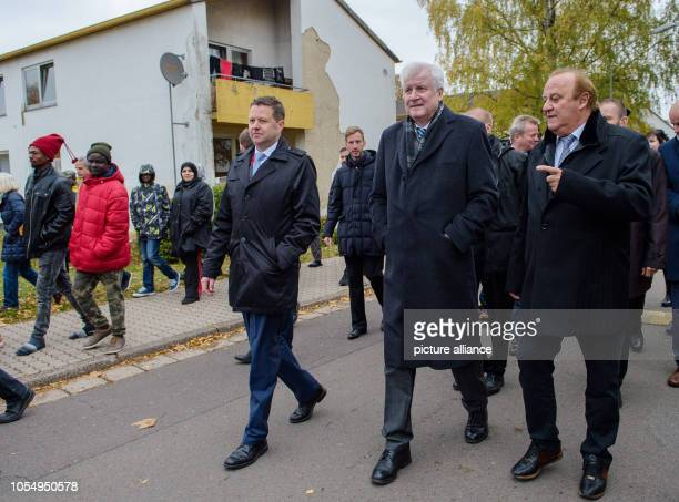 Federal Interior Minister Horst Seehofer and Klaus Bouillon Saarland Minister of the Interior Building and Sport will walk through the Lebach state...