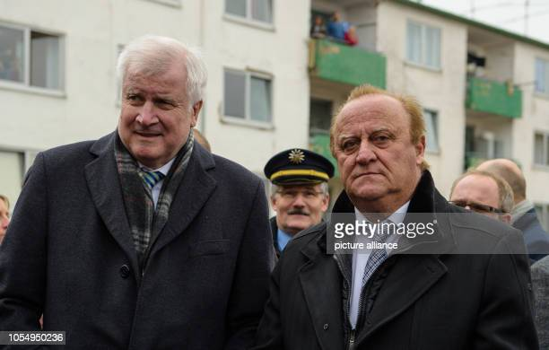 Federal Minister of the Interior Horst Seehofer and Klaus Bouillon Saarland Minister of the Interior Building and Sport visit the Lebach state...